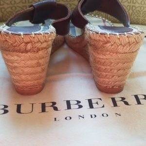 Burberry Shoes - Burberry Wedge Sandals